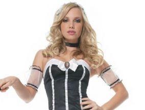 Costume sexy domestica cameriera Carnevale