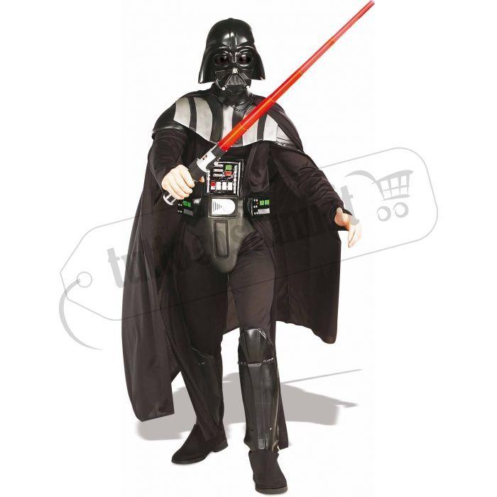 Costume temibile Darth Fener di Guerre Stellari con casco e spada. Quanto costa online?