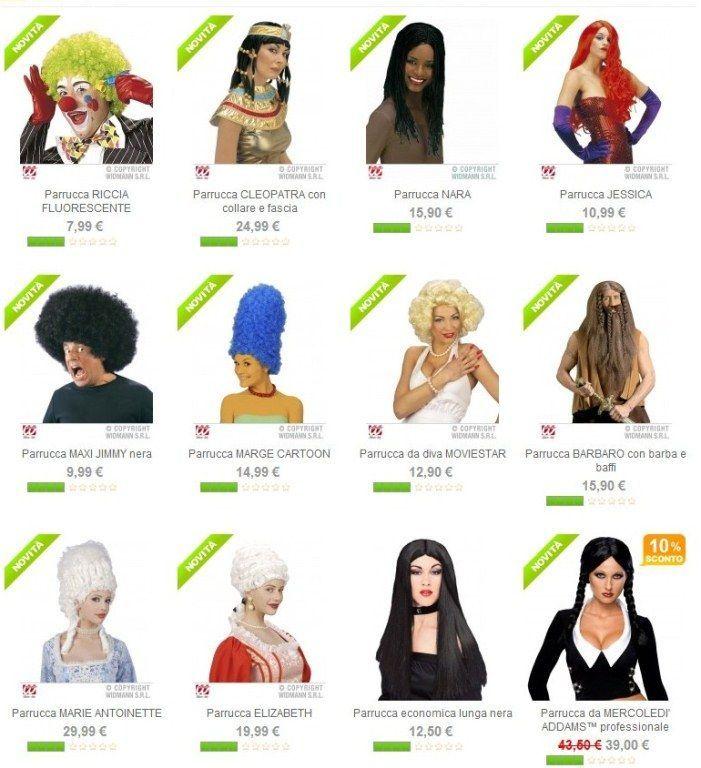 Parrucche caratterizzanti